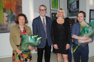 Christine Kaptjan, Guy Eades, Nickova Behling & Lee Broughall at the private view